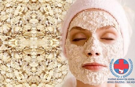 mặt nạ trị dị ứng da mặt từ bột yến mạch